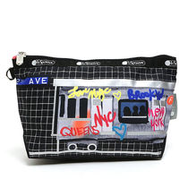 即発 LeSportsac 化粧ポーチ HERE WE GO NEW YORK 2725 E348