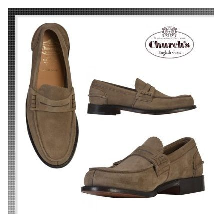 VIPセール★CHURCH'S Beige Pembrey Loafers