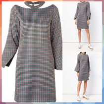 AALTO(アールト) ワンピース 【送料・関税等込み】checked cut out dress