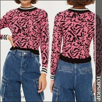【国内発送・関税込】TOPSHOP★Graffiti Skinny Pattern Jumper
