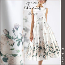 【国内発送・関税込】Chicwish★Fallen Rosa Printed Prom Dress