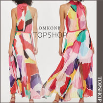 【国内発送・関税込】TOPSHOP★Multicoloured Pleated MaxiDress