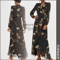 【国内発送・関税込】TOPSHOP★Floral Wrap Dress by Hope & Ivy
