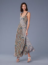 セール! DVF Paneled Maxi Dress