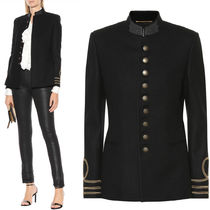 18-19AW WSL1309 EMBROIDERED WOOL OFFICIER JACKET