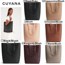 【CUYANA】●パソコン収納可能●Tall Structured Leather Tote