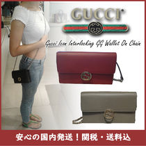 【国内発送】GUCCI ICON INTERLOCKING GG WALLET ON CHAINセール