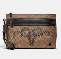Coach ◆ 36169 Academy pouch in signature canvas with tattoo