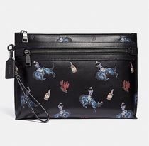 Coach ◆ 36223 Academy pouch with rodeo print