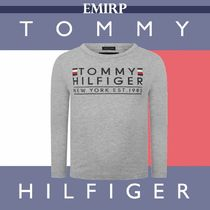 ☆18AW☆Tommy Hilfiger★BABYS★GREYロゴトップス[12~18M]