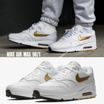 NIKE★AIR MAX 90/1★WHITE/METALLIC GOLD★メタリック