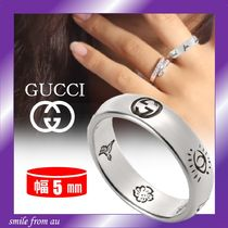 GUCCI★Blind For Love シルバーリング★5mm★直営店
