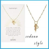 ★Dogeared★Feather And Moonstone Bezel Necklace★ゴールド