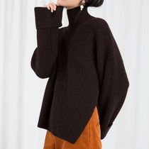 "& Other Stories(アンドアザーストーリーズ) ニット・セーター ""& Other Stories"" Oversized Side-Slit Turtleneck Brown"