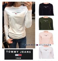 Tommy Jeans★18AW ロゴ入りベーシック長袖コットンTシャツ