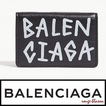【国内発送】Balenciaga 財布 Graffiti mini leather wallet