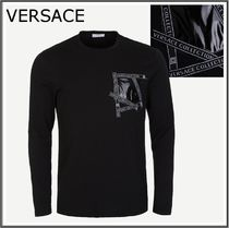 VERSACE COLLECTION★テープポケット 長袖Tシャツ