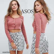 ◆NEW◆ASOS◆ Missguided リブ クロップド トップ