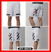 関税負担★人気【Off-White】★Diagonal Brushed Mesh Shorts★