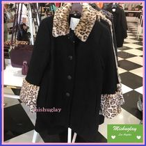 【kate spade】復刻★レオパード柄♪jewel button boucle coat★