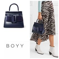 BOYY(ボーイ) トートバッグ 国内発送 BOYY Karl 24 buckled leather and velour tote