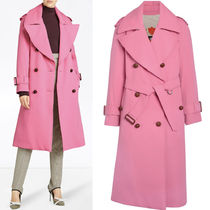 18-19AW BB058 OVERSIZED LAPEL WOOL GABARDINE TRENCH COAT