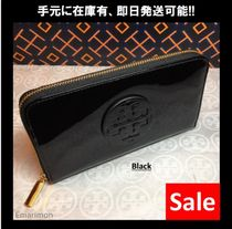 ★Tory Burch★STACKED PATENT ZIP CONTINENTAL 長財布 18169285