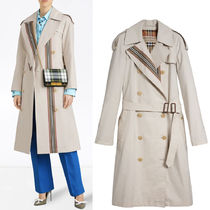 18-19AW BB061 COTTON TRENCH COAT WITH HERITAGE STRIPE