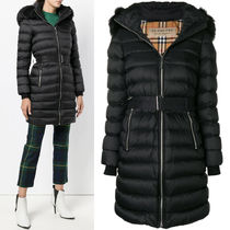 18-19AW BB067 FUR TRIMMED LIMEFIELD DOWN FILLED PUFFER COAT