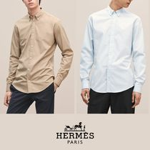 【18-19AW】HERMES*エルメス*Fitted shirt*シャツ*ブルー