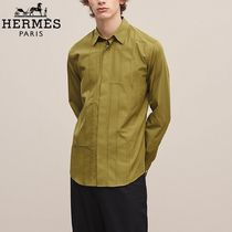 【18-19AW】HERMES*エルメス*Fitted shirt*シャツ*グリーン