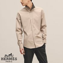 【18-19AW】HERMES*エルメス*Fitted shirt*シャツ*ベージュ