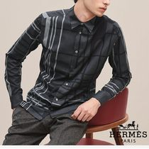 【18-19AW】HERMES*エルメス*Liquid Tartan fitted shirt*シャツ