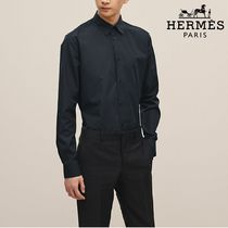 【18-19AW】HERMES*エルメス*Fitted shirt*シャツ*ネイビー