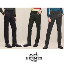 【18-19AW】HERMES*エルメス*Saint Germain fitted pants*パンツ