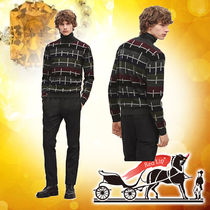2018WA【HERMES】★Pull col roule Multirayures Colorees★