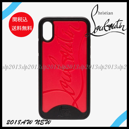 Christian Louboutin スマホケース・テックアクセサリー 19New■Christian Louboutin■Iphone X ケースRed/Black☆関税込