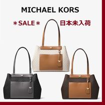 ◆MK◆Meredith Medium Logo and Leather Tote◆