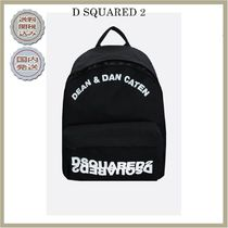 2018-19AW DSQUARED2 logo embroidered nylon backpack