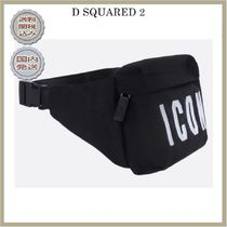 2018-19AW DSQUARED2 Icon embroidered nylon belt bag