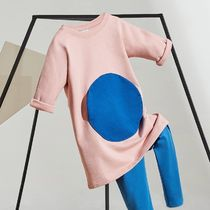 """COS(コス) キッズワンピース・オールインワン """"COS KIDS""""  CIRCLE PATCH-POCKET DRESS PINK/BLUE"""