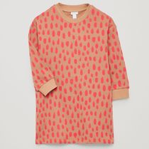 """COS(コス) キッズワンピース・オールインワン """"COS KIDS""""  PRINTED LONG-SLEEVED DRESS BROWN/PINK"""