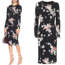 18-19AW DG1751 ANGEL & FLORAL PRINT MIDI DRESS