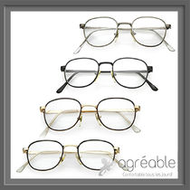 国内発送★zeroUV★True Vintage Dapper Square Clear Lens C718