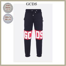 2018-19AW GCDS cotton joggers with logo print
