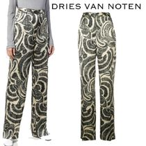 【18AW】★Dries Van Noten★high-waisted printed trousers