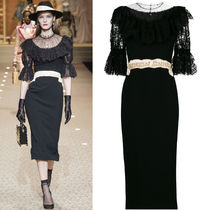 Dolce & Gabbana(ドルチェ&ガッバーナ) ワンピース 18-19AW DG1757 LOOK12 CADY DRESS WITH CHANTILLY LACE