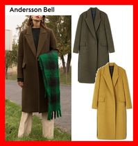 ANDERSSON BELL(アンダースンベル) コート 人気☆【ANDERSSON BELL】☆ MELANGE ALPACA MAXI COAT ☆2色☆
