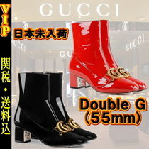 "◆◆VIP◆◆ UCCI ""Double G"" Patent leather ankle boot/送税込"