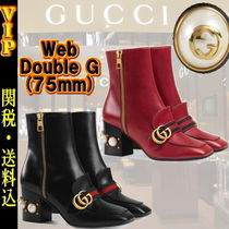 """◆◆VIP◆◆ GUCC I """"Web"""" Double G Aankle Boot / 送税込"""